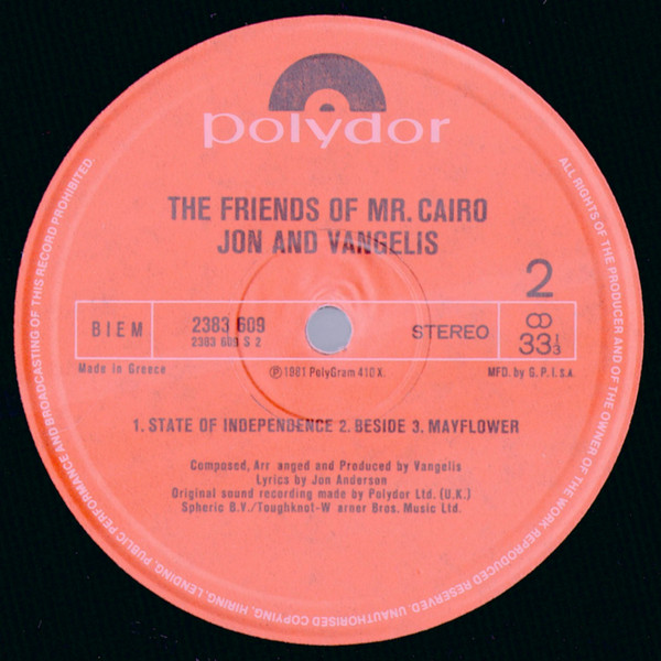 The Friends Of Mr. Cairo